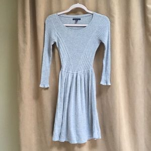 American Eagle Gray Sweater Mini Dress Size XS